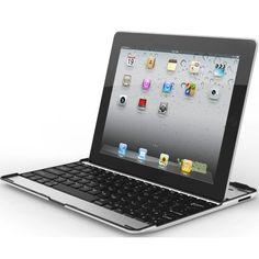MiniSuit Apple iPad 2, New iPad 3 Aluminum Bluetooth Keyboard Case Cover Stand