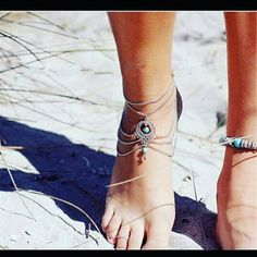 Check out this item in my Etsy shop https://www.etsy.com/uk/listing/276389948/boho-style-slave-ankle-bracelet-barefoot