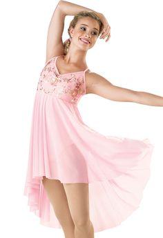 Floral Mesh Camisole Dress; Weissman Costumes