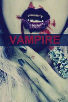 Image via The Vampire Diaries nail art ideas Image via Dark red sparkle nails. I'm not really big on red, but these are cute! The Vampire Diaries nail art ideas. Image via The Vam Vampire Photo, Vampire Love, Vampire Girls, Vampire Art, Gothic Vampire, Vampire Academy, Dracula, Vampire Fangs, Vampires And Werewolves