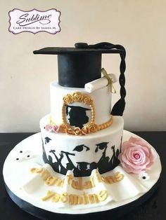 Graduation Cake Designs, College Graduation Cakes, Graduation Party Desserts, Graduation Party Planning, Beautiful Cakes, Amazing Cakes, Bithday Cake, School Cake, Cake Tutorial