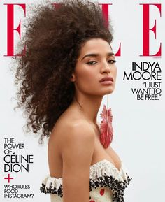 Indya Moore wears Louis Vuitton as she graces the June 2019 cover of ELLE US. Lensed by Zoey Grossman, the 'Pose' star becomes the first transgender woman to cover the magazine,FASHION,CELEBRITY V Magazine, Magazine Covers, Digital Magazine, Media Magazine, Fashion Magazine Cover, Img Models, Role Models, Vanity Fair, Marie Claire