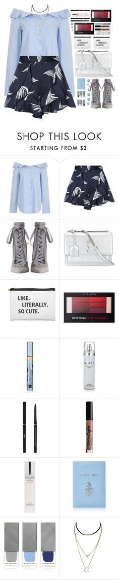 """""""""""time spent walking through memories"""""""" by af1nda ❤ liked on Polyvore featuring TIBI, C/MEO COLLECTIVE, Zimmermann, Yves Saint Laurent, Maybelline, Estée Lauder, Kenneth Cole, NYX, Mark Cross and Burberry"""