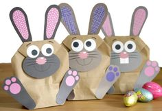 Gifts For Kids DIY Easter bunnies bags for filling Diy Gifts For Kids, Craft Gifts, Diy For Kids, Crafts For Kids, Happy Easter, Easter Bunny, Gift Wrapper, Easter Baskets, Creative Gifts