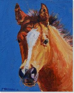 Horse painting by Betsey MacDonald