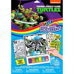 Savvi Teenage Mutant Ninja Turtles Magic Paint Poster Kit (2-Pack) *** Be sure to check out this awesome product. (This is an affiliate link) #NoveltyGagToys