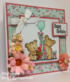 LOTV - Happy Bears Stamp Set with Pastel Dreams paper pad by Kitty Frampton