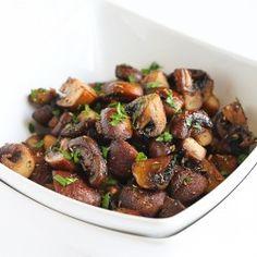 Easy Roasted Mushrooms with Rosemary & Garlic Recipe | cookincanuck.com
