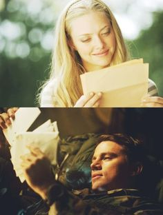 Incredibly moving story, written by Nicholas Sparks, characters John and Savannah played by Channing Tatum and Amanda Seyfried in the movie adaptation: Dear John. Channing Tatum, Cher John, Nicholas Sparks Movies, Military Love, Chick Flicks, Movie Couples, Romantic Movies, Romantic Images, Film Serie