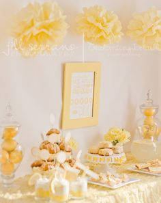 Sunshine themed dessert table