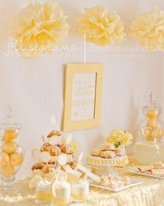 Sunshine themed dessert table