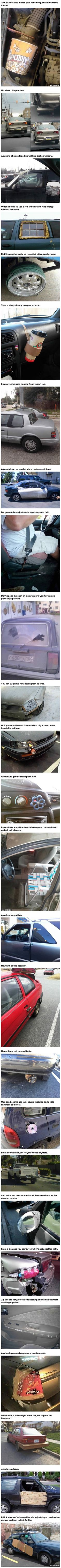 25 Ingenious Car Repairs That Are Too Creative For Their Own Good