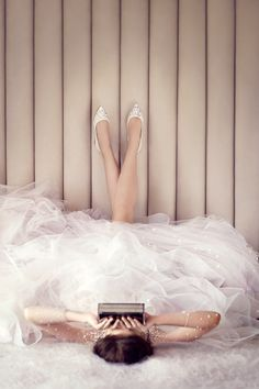 Jimmy Choo Alina Ivory Satin Pointy Toe Flats with Crystal Detail and Box Clutch