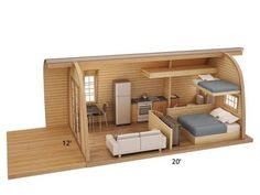 House design eco tiny homes new Ideas Tiny House Cabin, Tiny House Living, Tiny House Plans, Tiny House Design, Arched Cabin, Architecture Renovation, Camping Pod, Casas Containers, Little Houses