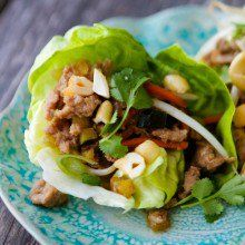 Cashew Chicken Lettuce Wraps at laurenslatest.com