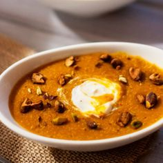 Curried Butternut Squash Quinoa Soup - Gluten Free, Healthy.