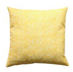 Throw Pillows- Premier Prints Yellow Cameron Chevron Pillow Cover- Choose Your Size- Hidden Zipper Closure