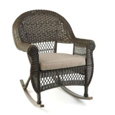 Brown Wicker Rocking Chair #OutdoorLiving #Kirklands