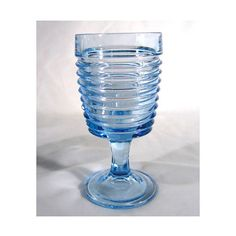 Park Avenue Sapphire Blue Deco Goblet Anchor Hocking by charmings, $8.00