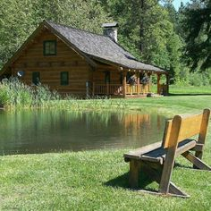 Cabin and Pond. Perfection!