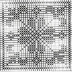 Quatrat in Filethäkelei Filet Crochet Charts, Crochet Motifs, Crochet Cross, Crochet Diagram, Knitting Charts, Crochet Squares, Crochet Granny, Crochet Doilies, Stitches
