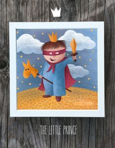 "Wall Illustration. Artwork. Digital Print ""The Little Prince"""