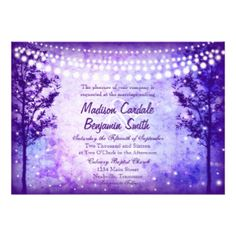 Whimisical Rustic Lights Wedding Announcments  Invitations: Collections | Zazzle.com Store