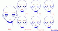 How to Draw Anime Girl Faces, Step by Step, Anime Heads, Anime, Draw Japanese Anime, Draw Manga, FREE Online Drawing Tutorial, Added by Desi_bell, January 8, 2013, 2:49:01 pm