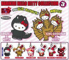Narikiri Hello Kitty Collection - Godzilla & King Ghidorah