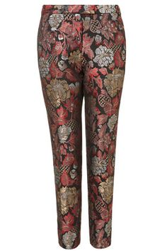 Chinoiserie Jacquard Cigarette Trousers