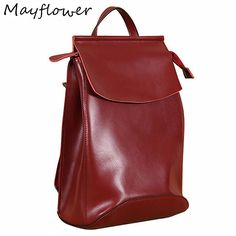 LUYO Brand Casual Genuine Leather Function All-match Travel Backpack Youth  Women Cowhide School Bags Sac A Dos Book 8e32c751ea81a