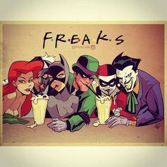 batman friends joker harley quinn superheroes catwoman Poison Ivy Superhero dc comics arkham The Riddler Two Face villain Gotham Catwoman, Batgirl, Gotham City, Comic Books Art, Comic Art, Comic Movies, Der Joker, Univers Dc, Im Batman
