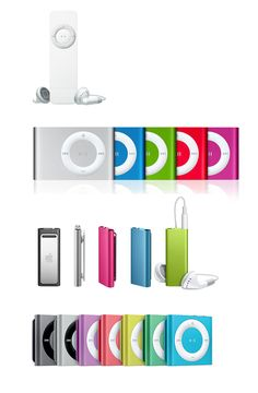 "The evolution of the iPod Shuffle through its models over the years -- The iPod Shuffle says, ""Who cares what comes next?!"""