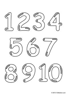 FREE Printable Number Coloring Pages 1-10 for Kids. | 123 Kids Fun Apps