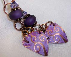 Metalwork  Earrings Lampwork Earrings Metal by ccjewelrydesign, $25.00