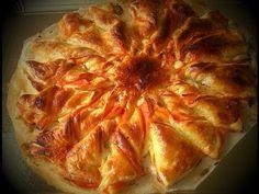 Estrella de hojaldre, jamón york y queso I Con horno - YouTube