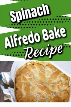 Great for Monday! Like a pizza pocket, but with Spinach and who doesn't love sauce! Cookbook Recipes, Gourmet Recipes, Baking Recipes, Dinner Recipes, Alfredo Bake Recipe, Alfredo Sauce, Great Recipes, Favorite Recipes, Recipe Ideas
