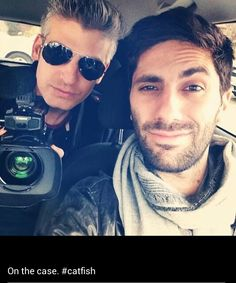 nev and max from Catfish - Toffe serie! Catfish Tv, Catfish The Tv Show, Celebrity Selfies, Celebrity Pictures, Celebrity Crush, Nev Schulman, Beautiful Men, Beautiful People, Mtv Shows