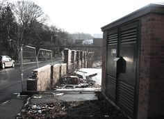 An housing development, left unfinished for years. Redbrook, Barnsley, January 2013