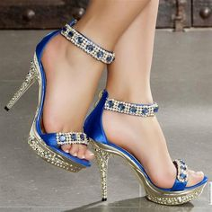 Blue Silver Heels  Tsaa Heel