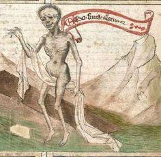 Speculum humanae salvationis. Memento mori-Texte [u.a.] Bayern - Österreich, I: zwischen ca. 1440 - 1466, II: um Mitte 15. Jh., III: 2. Viertel 15. Jh. Cgm 3974 Folio 57