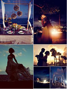 beach wedding @ sunset