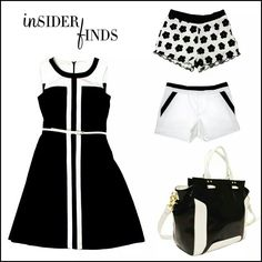 Black and white for spring style.