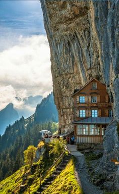 Aescher Hotel In Appenzellerland, Switzerland.