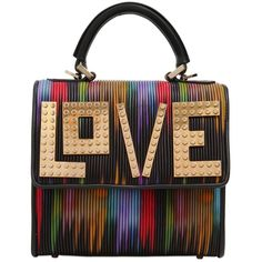 Les Petits Joueurs Women Mini Alex Love Quilted Leather Bag ($1,145) ❤ liked on Polyvore featuring bags, handbags, shoulder bags, multi, mini purse, colorful purses, miniature purse, multi colored purses and multi colored handbags