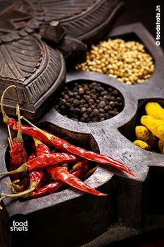 Indian spices. Food Photography by www.foodshots.in Delhi India