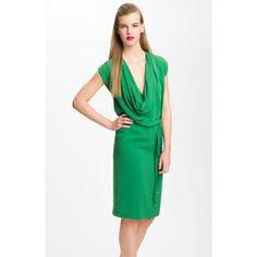 Diane von Furstenberg 'New Reara' Draped Silk Dress