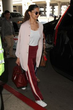 Deepika Padukone arriving at LAX airport in Los Angeles yesterday.