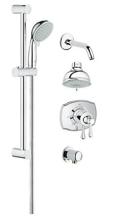 Shower Faucets Bathtub Faucets Brass Luxury Chrome Silver Shower Faucet Set Ceramic Handle Handheld Rain Shower Head Faucet Mixer Tap Relieving Rheumatism And Cold Home Improvement