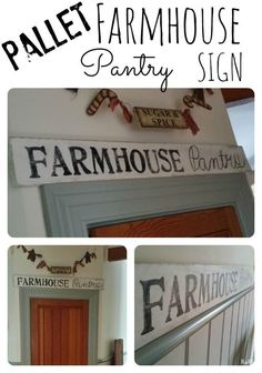 Pallet Farmhouse Pantry Sign